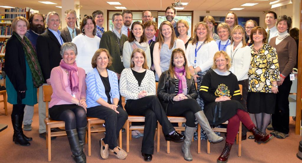 2016 GRANT AWARD WINNERS and school administrators at Brunswick Community Education Foundations's grantee orientation meeting.